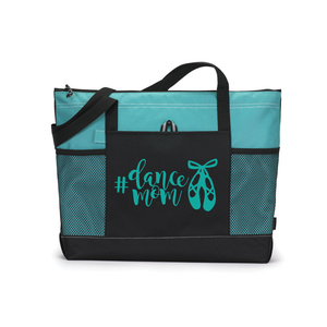 Personalized Dance Tote, Dancer Bag, Custom Tote Bag, Turquoise Tote Bag, Dance Gift, Sports Bag, Personalized Bag, Dance Team Gift, Love Dance, Dance Competition Bag, Custom Tote Bag