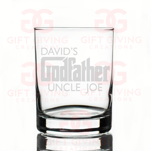 Custom GodFather Whiskey Glass