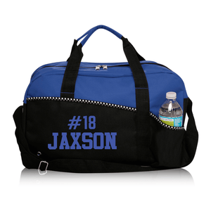 Custom Name Number Sports Bag