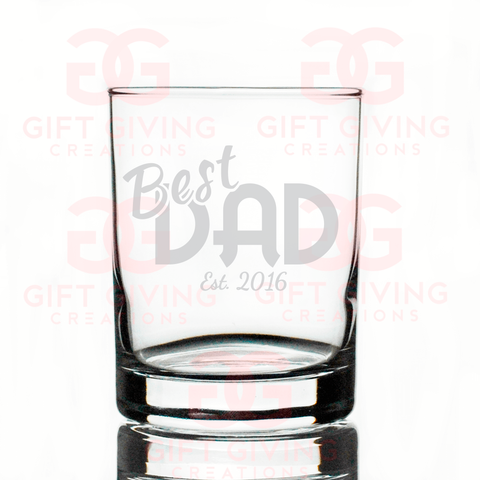 Personalized Best Dad Whiskey Glass