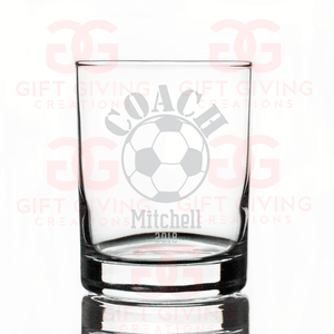 Soccer Coach Whiskey Glass