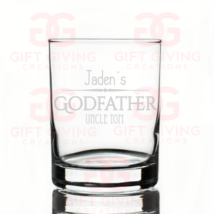 Custom GodFather Scotch Glass