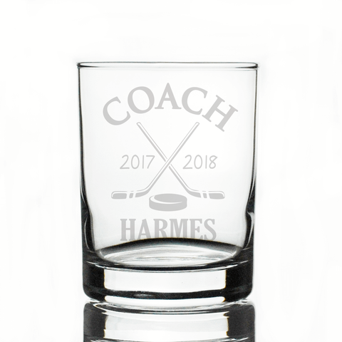Hockey Coach Whiskey Glass