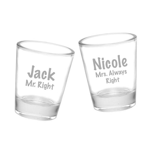 Set of 2 Custom Laser Personalized Shot Glass, SHIPS FAST, Wedding Shot Glass, Wedding Favor, Monogram Glass,