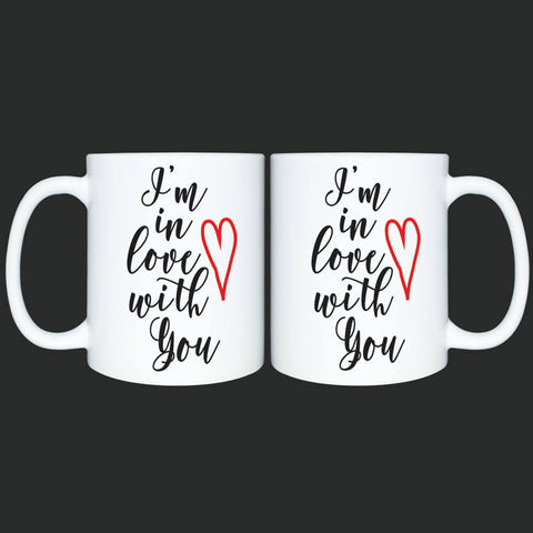Custom Mug for Her or Him*Personalized Coffee Mug Gift*I love you mug*Valentines Gift*Mothers Day*Anniversary gift, I'm in love with you
