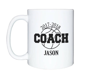 Custom Basketball Coffee Mug, SHIPS FAST, Basketball coffee mug, Coach Mug, Basketball Player, Personalized Basketball mug