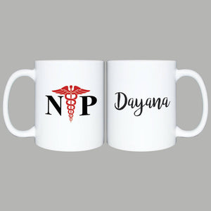NP Nurse Practitioner Coffee Mug, Birthday Gift, Best Nurse Practitioner, NP Gift, Custom Mug for NP, Thank You Mug