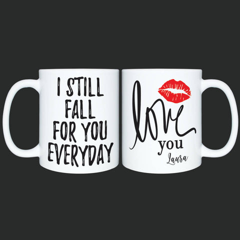 Custom Mug for Her or Him*Personalized Coffee Mug Gift*I love you mug*Valentines Gift*Mothers Day*Anniversary gift