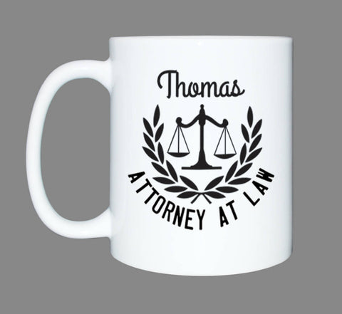 Personalized Lawyer Gift Mug*Custom Coffee Mug*Law School* Attorney Gift*Attorney at law*Law Student*Law Graduation Student