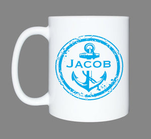 Personalized coffee mug * Coffee lover * Fisherman Mug * Father Day Gift * Sublimated Mug * Boat Lover * Personalized Mug * Anchor Mug