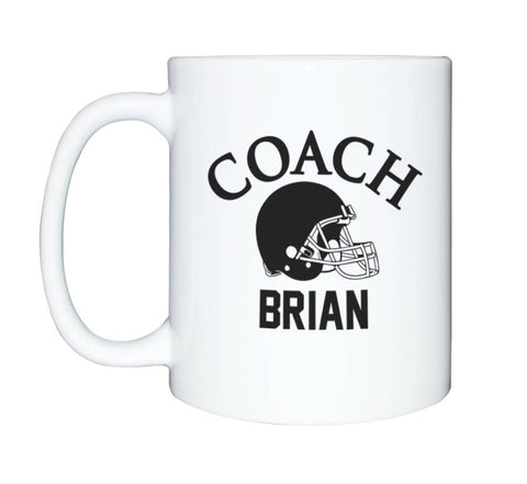 Custom Football Coffee Mug, SHIPS FAST, Football coffee mug, Coach Mug, Football Player, Personalized Football mug, Football Team logo