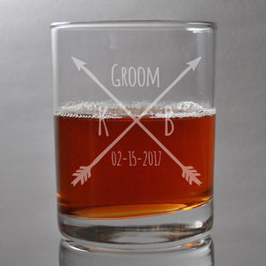 Custom Groomsmen Engraved Glasses, SHIPS FAST, Etched Rocks Glasses, Bourbon Whiskey Scotch Glasses, Bridesmaid Glasses, Bachelorette