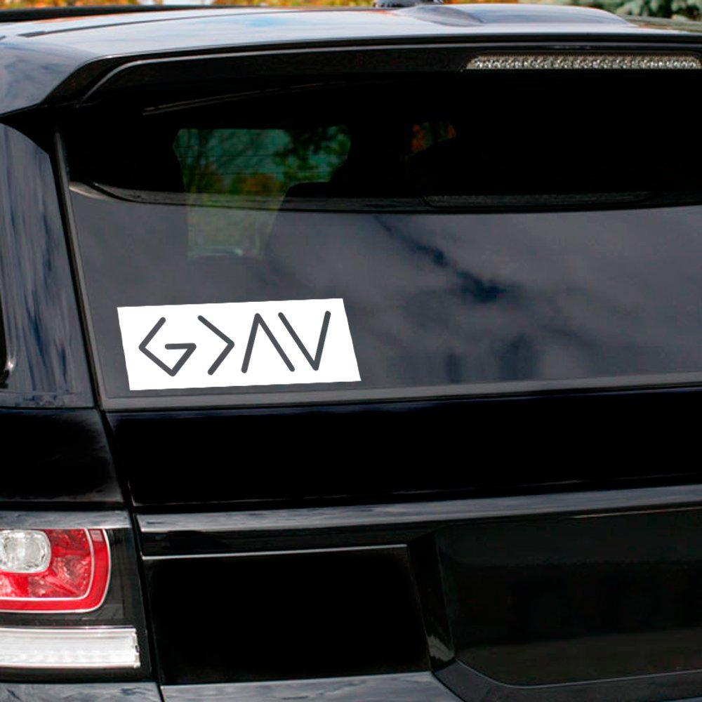 God is greater than the highs and lows decal, Vinyl Decal, Car Decal,  Laptop Decal, Sticker, Mountain Decal, Jesus Decal, Religion Decal