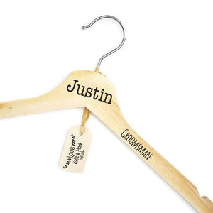 Custom Personalized Groomsman Hanger, Groom Suit Hanger, Engraved Solid Hardwood Hanger, Groomsmen Hanger,