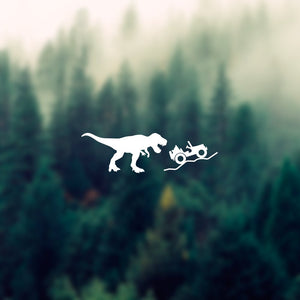 Jeep T-Rex Sticker, Tyrannosaurus rex sticker, Jurassic Jeep T-Rex Sticker, Car laptop Vinyl decal sticker, jeep window sticker jeep decal