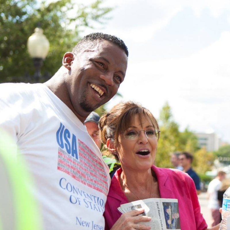 Sarah Palin with Convention of States Supporter