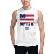 Load image into Gallery viewer, Just Fly It Muscle Tank (Unisex)