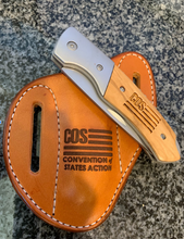 Load image into Gallery viewer, Custom Engraved Leather Sheath - American Made