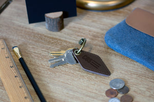 Leather Engraved Key Ring