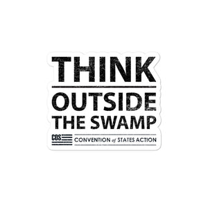 Think Outside The Swamp Sticker