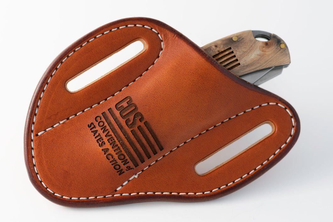 Custom Engraved Leather Sheath - American Made