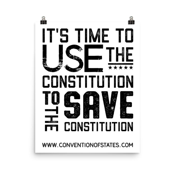 Save the Constitution Poster