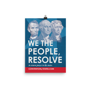 We The People Poster - 12 x 16""