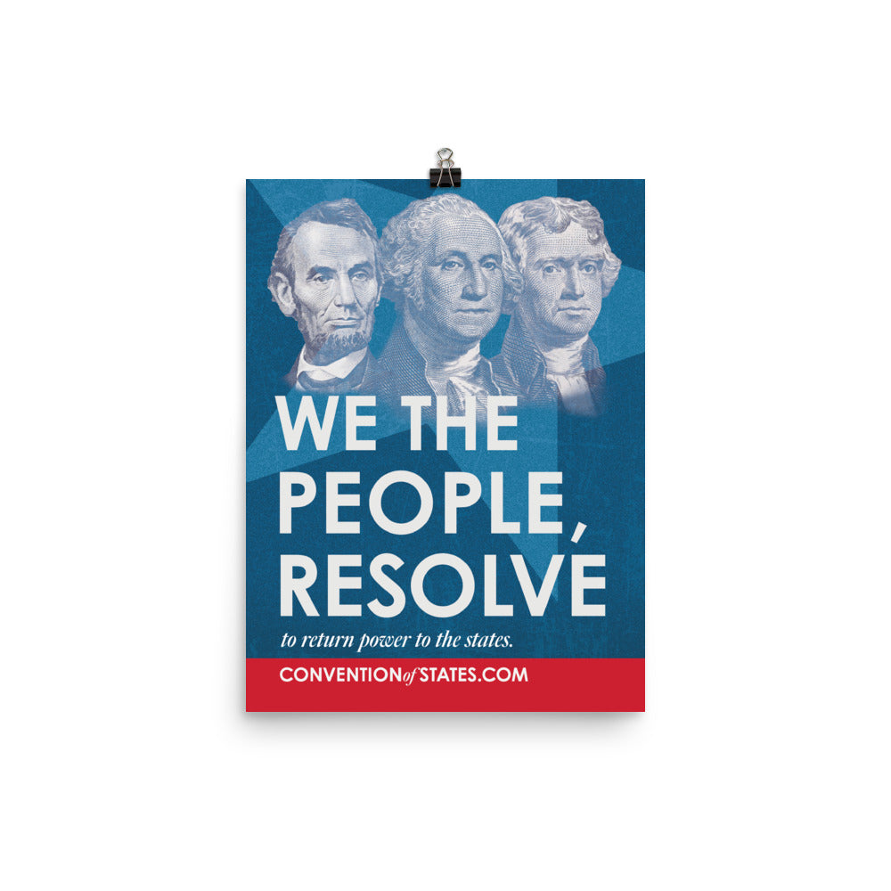 We The People Poster - 12 x 16