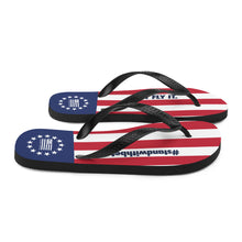 Load image into Gallery viewer, Just Fly It Betsy Ross Flip-Flops