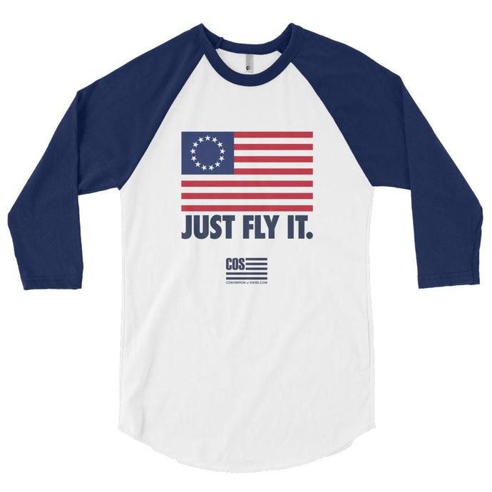 Just Fly It Betsy Ross Baseball Tee