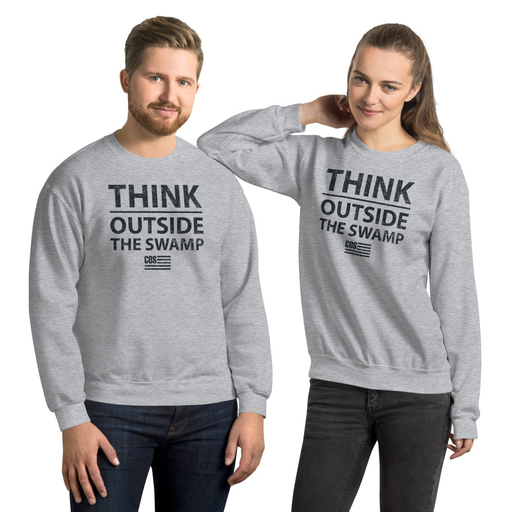 Think Outside The Swamp Sweatshirt (Unisex)