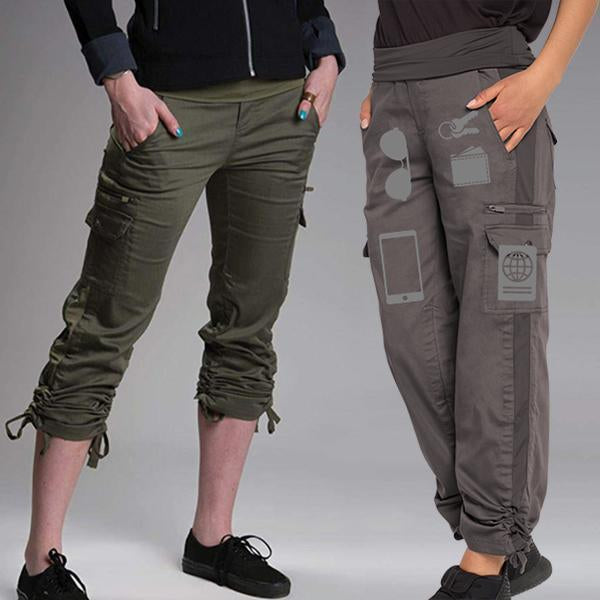 Stretchy Soft 11 Pockets Versatile Travel Pants
