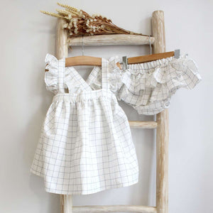 Pukatuka Grey Check Ruffle Set