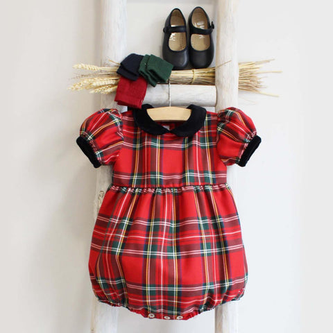 Pukatuka Christmas Tartan Romper/Dress