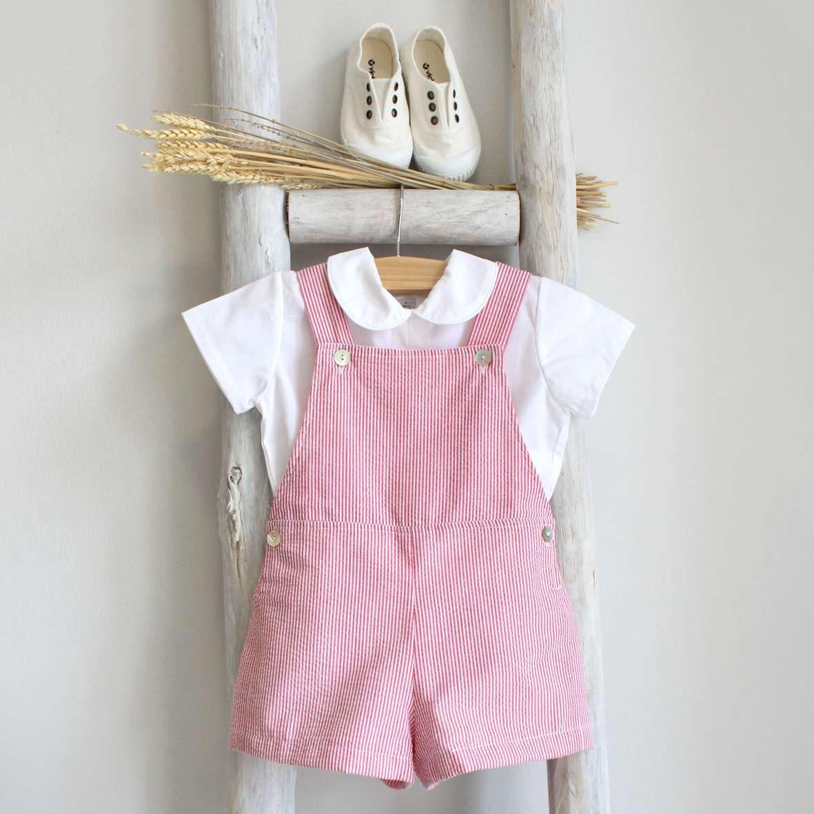 Pukatuka Red Stripes Shortall