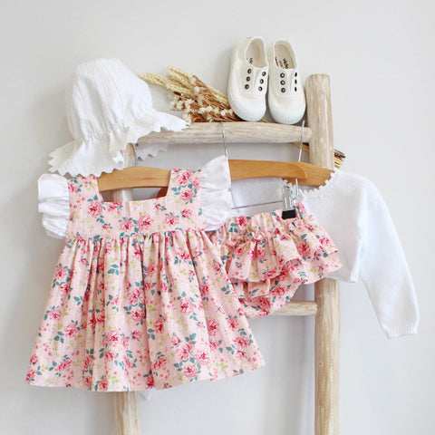 Pukatuka Pink Floral Bloomer Set/Dress