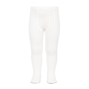 Condor Ribbed Tights-White