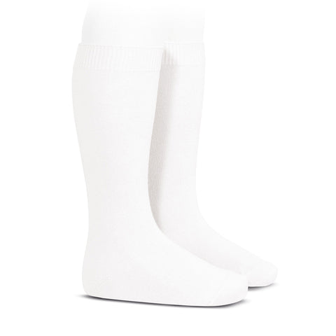 Condor Cotton Knee Sock- White
