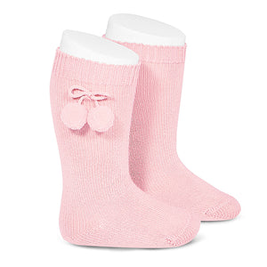 Condor Pom Pom Knee Sock-Light Pink