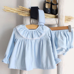 Pukatuka Ruffle Set- Blue or Pink