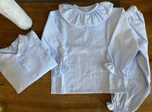 Pukatuka Girls Blue Gingham Pajamas