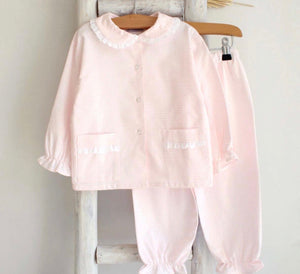 Pukatuka Pink Tartan Pajamas with Collar