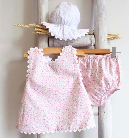 Pukatuka Pink Floral Sunsuit Set