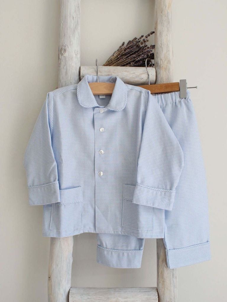 Pukatuka Boys Blue Gingham Pajamas