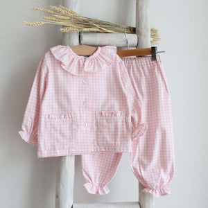 Pukatuka Pink Check Girls Pajamas