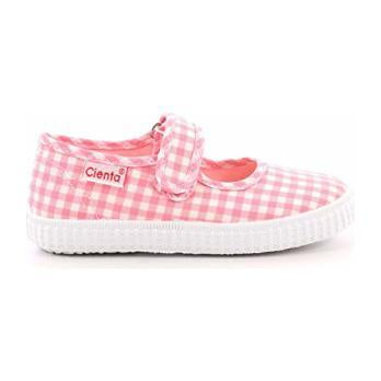 Cienta Mary Jane Pink Gingham