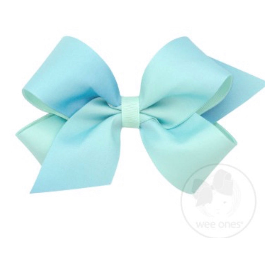 Wee Ones Ombre Mint Bow- Medium