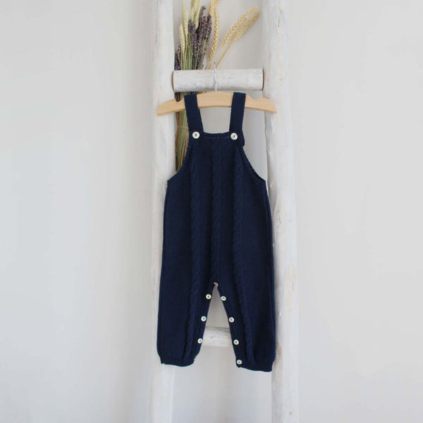 Pukatuka Knit Overalls- Ivory, Navy, Light Pink, Dusty Pink