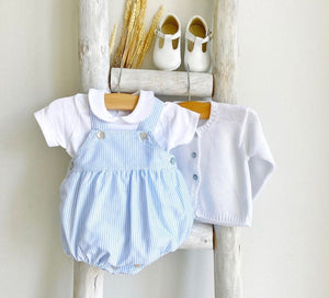 Pukatuka Blue Striped Boys Romper