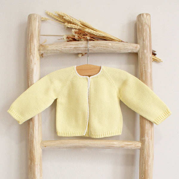Pukatuka Pearl Trim Cotton Cardigan